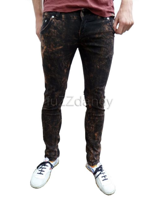 Ronnie - Super Skinny Drainpipes Jeans (black acid wash)